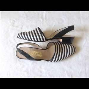 Salvatore Ferragamo | NWOB Striped Slingbacks